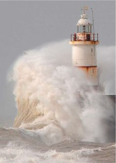 storm at Seaford in East Sussex