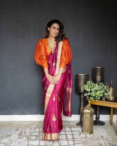 Sleeves Designs For Dresses, Dress Neck Designs, Fancy Blouse Designs, Saree Wearing Styles, Saree Styles, Saree Jacket Designs, Stylish Blouse Design, Saree Trends, Stylish Sarees