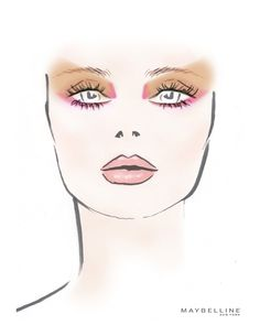 """maybelline: """"The face chart from the Richard Chai show. Futuristic Makeup, Pale Pink Lips, Makeup Face Charts, Maybelline Makeup, Makeup Tattoos, Summer Makeup, Makeup Forever, Simple Makeup, Portrait"""