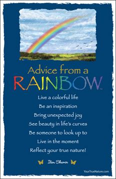 Advice from a Rainbow Frameable Art Postcard