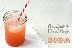 Grapefruit & Brown Sugar Soda