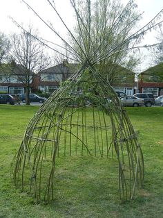 a living willow wigwam. I can't wait to live on land where I can actually do this.
