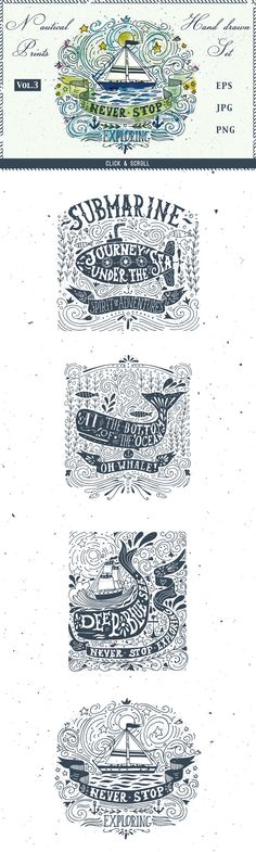 Sailor Spirit | Nautical collection by Blue Ink Studio on Creative Market