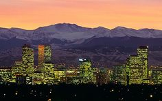 Denver, Colorado....I've only been there once and it was over 20 years ago, but Denver is GORGEOUS and I will get back there one of these days.
