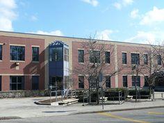 Oakville Trafalgar High School, Devon Road, Oakville Ontario, Jenny Kotulak photo Devon, Oakville Ontario, Beautiful Places, High School, Multi Story Building, Photos, Street View, Mansions, Education