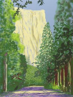Find the latest shows, biography, and artworks for sale by David Hockney. A pioneer of the British Pop Art movement in the early alongside Richard Hami… David Hockney Ipad, David Hockney Art, David Hockney Paintings, David Hockney Landscapes, Pop Art, Painting Wallpaper, Landscape Paintings, Abstract Landscape, Painting Techniques