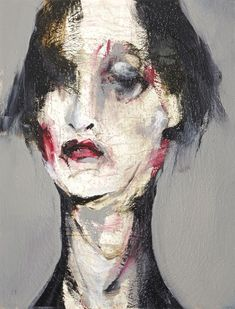 Lita Cabellut - traveling with the ghost. Is a Spanish painter who lives and works in The Hague, Netherlands. Cabellut works on large scale canvases using a contemporary variation of the fresco technique. Abstract Faces, Abstract Portrait, Portrait Art, Figure Painting, Painting & Drawing, Painting Inspiration, Art Inspo, Arte Obscura, Pablo Picasso