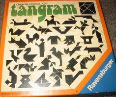 Vintage Tangram Puzzle by Ravensburger West Germany 1976 90s Childhood, My Childhood Memories, Sweet Memories, Good Old Times, The Good Old Days, Vintage Cards, Vintage Toys, Tangram Puzzles, Nostalgia