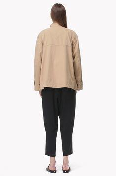 Drawstring waist safari jacket