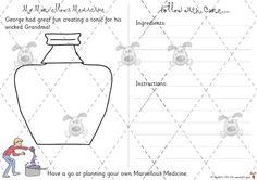 Teacher's Pet - My Marvellous Medicine - Premium Printable Game / Activity - EYFS, KS1, KS2, describe, lists, instructions, writing