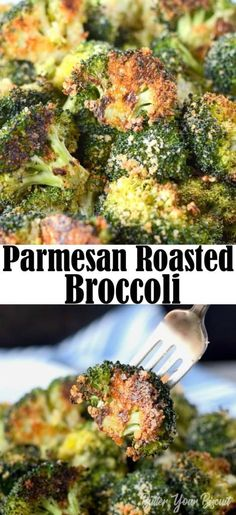 Parmesan Roasted Broccoli is the perfect roasted vegetable. The Parmesan and bread crumbs gives it the best crunchy texture. via - Parmesan Roasted Broccoli is the perfect roasted vegetable. The parmesan and bread crumbs gives it the best crunchy texture. Roasted Broccoli Recipe, Roasted Vegetable Recipes, Veggie Recipes, Vegetarian Recipes, Cooking Recipes, Healthy Recipes, Best Broccoli Recipe, Broccoli Baked In Oven, Broccoli On The Grill