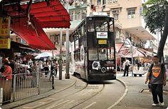 Tram approaching the terminus