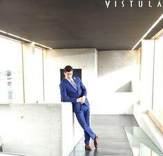 Robert Lewandowski w kampanii Vistula elegancka męska stylizacja men outfit