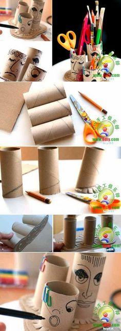 DIY Toilet Paper Roll Pencil Holder | DIY & Crafts Tutorials