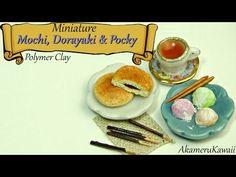 Miniature Mochi, Dorayaki, Pocky, and tea - polymer clay tutorial - YouTube
