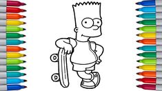 Let's color THE SIMPSONS | Coloring Pages for Kids | BART SIMPSONS Coloring Paw Patrol Coloring Pages, Bunny Coloring Pages, Coloring Pages For Kids, Color Bug, The Simpsons, Bart Simpson, Let It Be, Make It Yourself, Coloring Pages For Boys