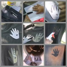 Child's Handprint on t-shirt for Dad - Easy How To