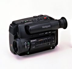 Sony Handycam The Passport-Sized Camcorder Sony Electronics, Vintage Tv, Retro Futurism, Camera Accessories, Tv On The Radio, Camcorder, Cool Gadgets, Filmmaking, Videos
