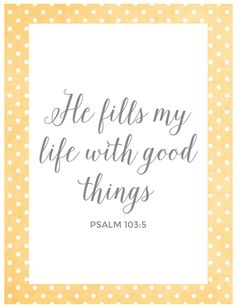 Psalm 103:5  :  FREE PRINTABLE
