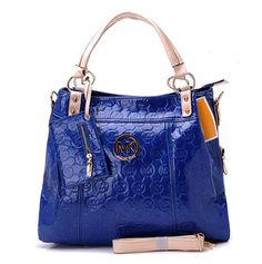 Michael Kors Grayson Monogram  Wallet Crossbody Bag Blue   $55.95