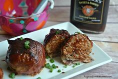 These delicious (and super easy) barbecue bacon meatball bombs are the perfect recipe for your next party or special occasion. Bbq Onion Meatball Bombs, Barbecue, Onion Bombs, Meat Recipes, Cooking Recipes, Hamburger Recipes, Bbq Meatballs, Bbq Bacon, Hamburgers