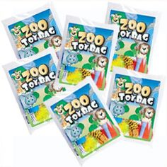 Toy Filled Zoo Animal Goody Bag