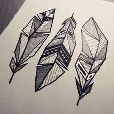 shapes abstract geometric tattoo simple drawings nature sketches easy