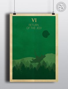 Star Wars Episode VI - Minimalist Poster by Posteritty
