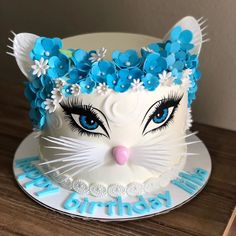 😋 ⠀ ⠀ Stay with 👉👉 to joy amazing desserts 🍩🍰😋 ⠀ ⠀ Credits by ⠀ ⠀ Tag… Pretty Cakes, Cute Cakes, Beautiful Cakes, Cake Boss, Kitten Cake, Birthday Cake For Cat, Frozen Birthday, Fantasy Cake, Baby Girl Cakes