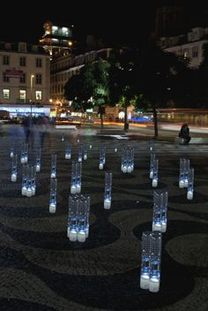 Lisbon's sustainable christmas light with social message