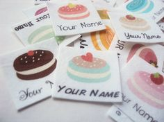 75 Cookie Name Tags children's name labels printed от ananemone, $16.00