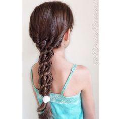 """Fishtails into 4 Strand Braid Inspired by @n.starck  Pom Pom hair tie by @flettemia"" Photo taken by @mimiamassari on Instagram, pinned via the InstaPin iOS App! http://www.instapinapp.com (09/25/2015)"