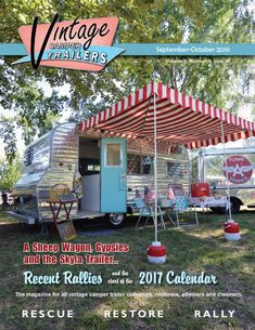 Vintage Camper Trailers Magazine is an actual, printed, bi-monthly publication. We rescue, restore and rally with our vintage campers from the 1940 through the 1960s. We welcome all collectors, restorers admirers and dreamers. Always made in the USA! Vintage Motorhome, Vintage Camper Interior, Trailer Interior, Vintage Campers Trailers, Vintage Rv, Retro Campers, Camper Trailers, Vintage Stuff, Happy Campers