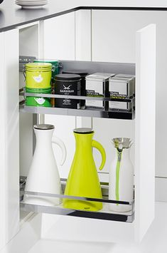Comfort II Pull-Out base unit, arena style - in the Häfele Australia Shop Laundry Solutions, Kitchen Storage Solutions, Inside Cabinets, Wine Cabinets, Wine Storage, Small Storage, Kitchen Base Units, Kitchen Utensils Store, Coffee Center
