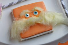 Lorax cookie maybe a cute cake/cupcake found on Sweetopia.net