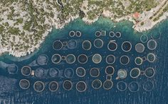 The Fantastic Geometry of Greece's Fish Farms 2000 Feet Up | WIRED