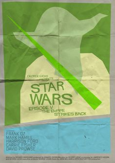 Saul Bass-Style STAR WARS Posters http://www.filmofilia.com/saul-bass-style-star-wars-posters-107630/