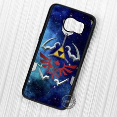Game The Legend of Zelda Blue Galaxy Triforce - Samsung Galaxy S7 S6 S5 Note 7 Cases & Covers