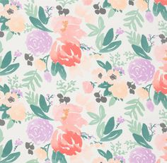 PRE SALE :: Bridge City Blooms Fabric on White