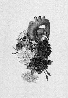 Heart of Flowers Tattoo Design