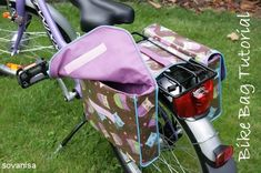 PatternPile.com - Hundreds of Patterns for Making Handbags, Totes, Purses, Backpacks, Clutches, and more. | Bicycle Saddlebag – Free Tutorial | http://patternpile.com/sewing-patterns