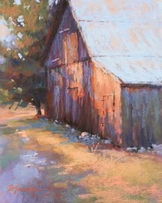 Tucked Away, oil, 9x12 This month in my classes at my studio we once again studied structures within the landscape. Last month's subje...