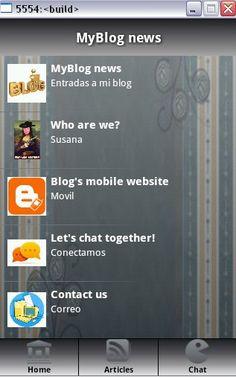 Aquí hemos creado una aplicación para móviles, ha sido la que más me ha costado, a pesar de ser muy fácil. Mi reflexión: http://diariosusy.blogspot.com.es/2013/04/mi-propia-aplicacion-para-moviles.html