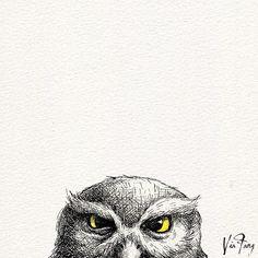 ...the end . #owl #owlart #owlstagram #owllove #illustration #illustagram #art #artsy #artwork #artoftheday #artstagram #drawing #drawingoftheday #doodle #instaart #instadaily #ink #inkdrawing #animal #animalart #handdrawn #visualart #design #blackandwhite #イラスト #フクロウ #插畫 #插圖 #手繪 #viafang