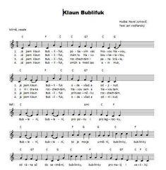 Klaun Bublifuk Sheet Music, Songs, Carnavals, Song Books, Music Sheets