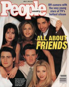 Friends cover of People Magazine 1996 This magazine is a little older than me.