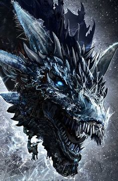 Viserion is a dragon that the Night King slayed and reanimated as a wight. He is one of the three dragons born in the Dothraki Sea, along with Drogon and Rhaegal, and is named after Daenerys Targaryen's elder brother, Viserys. Ice Dragon Game Of Thrones, Dragon Tattoo Game Of Thrones, Game Of Thrones Dragons, Got Dragons, Game Of Thrones Art, Dragon Tattoo Got, Mythical Creatures Art, Fantasy Creatures, Fantasy Dragon