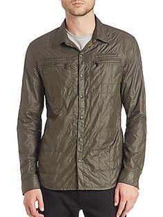 John Varvatos Star USA Snap Front Work Shirt Jacket