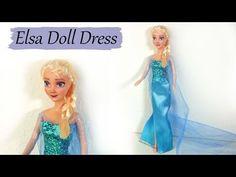 Elsa inspired (Frozen) Dress - Tutorial - Hair and Makeup Tutorials Elsa Clothes, Barbie Clothes, Sewing Clothes, Frozen Dress Pattern, Vestido Elsa Frozen, Dress Makeover, Frozen Dolls, Hat Tutorial, Elsa Dress