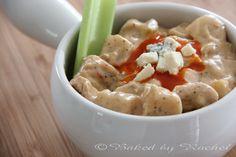 Slow Cooker Buffalo Chicken Chowder - bakedbyrachel.com